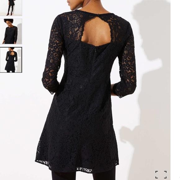 LOFT Dresses & Skirts - Lace open-back dress from Loft, NWT, black, 10